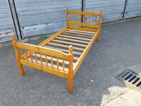 Single pine bedframe, delivery available