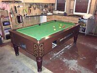 8 X 4 club slate bed pool table