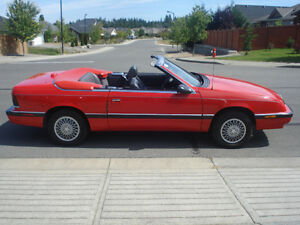 1989 Chysler Lebaron convertible with collector plates