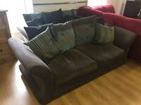 3+2 brown fabric suite--originally from DFS--excellent condition--delivery available!!!