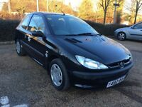 Peugeot 206 1.1 LX Hatchbk 3dr Petrol ual (148 g/km, 60 bhp) (black) 2001