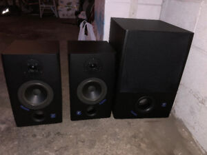 Yorkville Studio Monitor Speakers with Subwoofer - MINT
