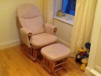 Tutti Bambini Daisy Glider Nursing Chair and Stool