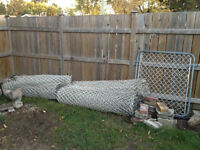"""Used 5ft. high """"white"""" chainlink fencing"""