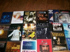 Dvd's concerts, some are $5, others more, box sets etc, some new