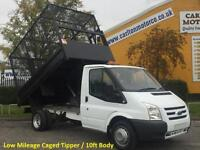 2011/61 Ford Transit 100ps T350m S/Cab Tipper Caged Refuse body Low Mileage DRW