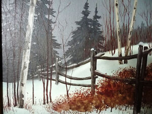 "Snowy Forest Landscape by Hilkka Pellikka ""The Evening Storm"" Stratford Kitchener Area image 10"