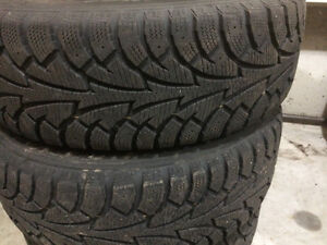 WINTER TIRES  (185/65/R15 ) IN GOOD CONDITIONS READY TO USE