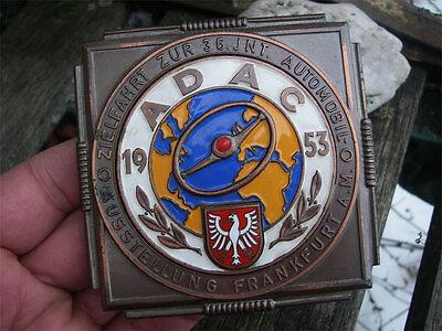 ADAC GERMANY - FRANKFURT IAA RALLYE Badge 1953 - Petri wheel !!