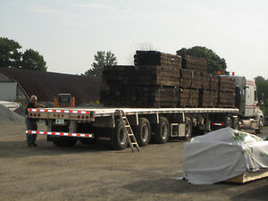RAILROAD /  RAILWAY TIES & HIGHWAY POSTS FOR LANDSCAPING