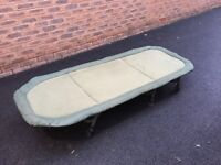 Trakker RLX compact 6 leg bedchair & Trakker big snooze compact & a Free Fox thermal throw