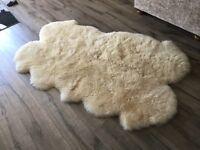 Real sheepskin fur rug