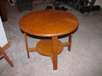 Circle Wooden Table
