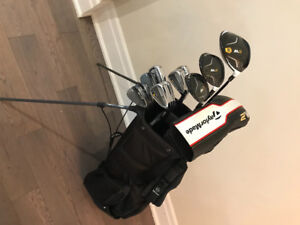 TaylorMade M2, RBladez Tour Irons, Cleveland wedges, PING Hoofer