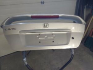 Trunk Lid with spoiler fits 01-05 Civic Coupe