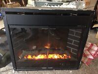 Flavel EI26 electric flame log effect fire