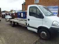 Vauxhall Movano 120ps LWB recovery plant truck 2009 no vat 15ft alloy beavertail