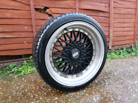 18 Inch BBS Dare RS Alloy Wheels & Tyres - fit vw vauxhall golf audi s