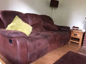3 seater settees x2