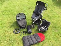 Quinny Buzz Travel System with Maxi Cosi cabrio iso fix car seat