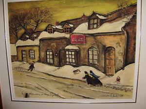 Toile Normand Hudon intitulée «Dépanneur Vieux Longueuil»