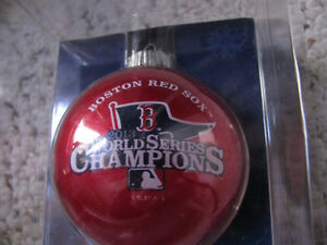 2 Boston Red Sox Christmas Ornaments