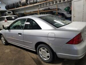 2001 Honda Civic LX Coupé FINANCEMENT AUCUN CAS REFUSÉ!!