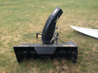 LAWN TRACTOR SNOW BLOWER AND BLADE