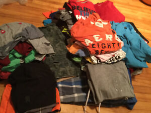 Extra large lot youth boys clothes mostly 14 in tops, 30x30 pant