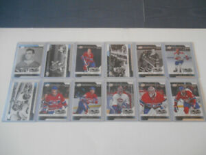 COLLECTION 12 CARTES DE HOCKEY CANADIENS DE MONTREAL 2017-18