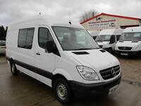 13 reg MERCEDES BENZ SPRINTER 313 CDI MWB CREW, MESS, MESSING UNIT, WELFARE VAN