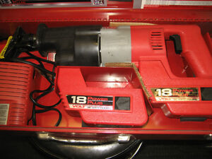 two millwaukee 18 vt battery sawzalls in cases w/accessories Kingston Kingston Area image 3