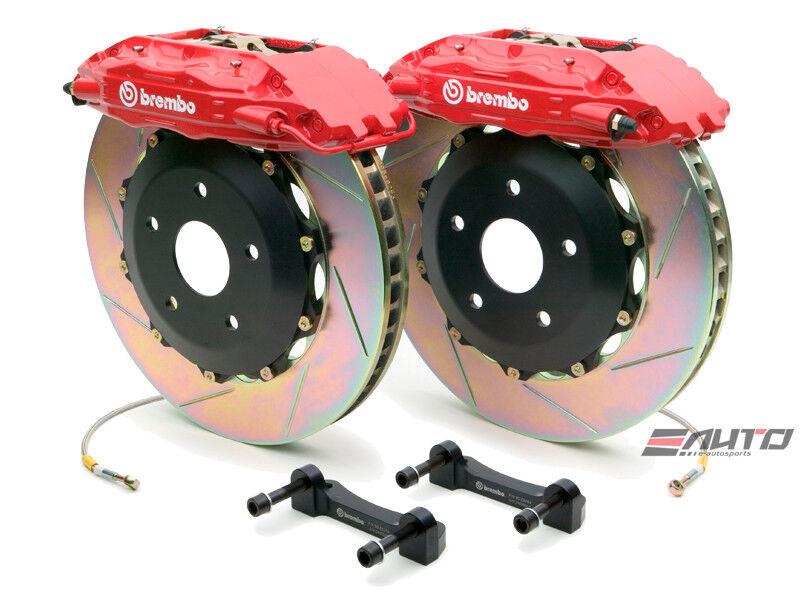 Brembo Front Gt Brake 4pot Red 355x32 Slot 1500 Sierra Suburban Denali 00-06