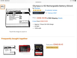 Olympus rechargeable Battery, new