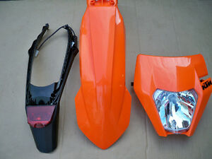 KTM XCW FENDER,HEADLIGHT,TAIL LIGHT