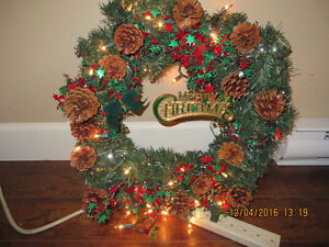 Christmas Door Decorations with multi color light