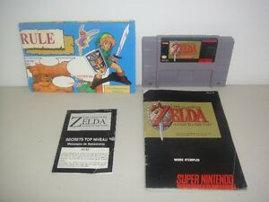 RARE, Zelda Link to the Past SNES Francais + Map, Manual, Top N