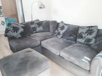 Second Hand Black Corner Sofa-Bed