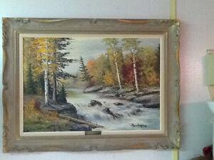C.M.Bowman oil painting