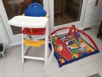 High Chair and Play Mat