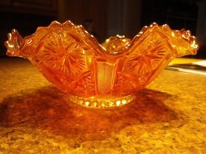 **Vintage Amber Carnival Glass Bowls...A 1 condition..$15 each