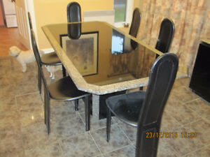 Table de cuisine granite