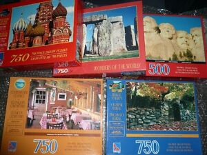 Puzzles lot of 5