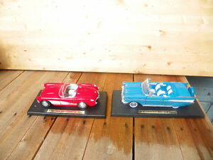 1957 Die Cast Chevy Bel Air and 57 Corvette
