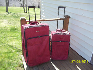 Luggage Travel Set 2-pc (Oleg Cassini) with Retractable Handle
