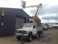 * SOLD * 2008 Land Rover defender 130 2.4TDCi NIFTY LIFT Cherry Picker