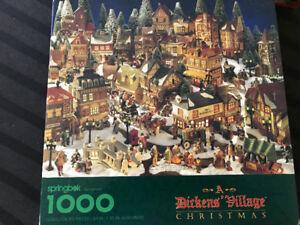 Dickens village Christmas puzzle