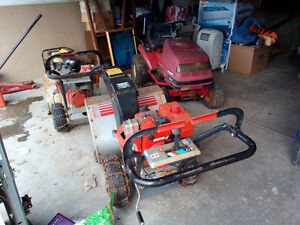 Lawn tractor & 2 snowblowers