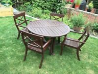 Wooden Garden Table & 4 Chairs