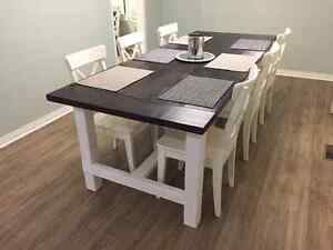 Solid Wood Rustic Farmhouse Table